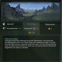 Kolonie Planetengröße