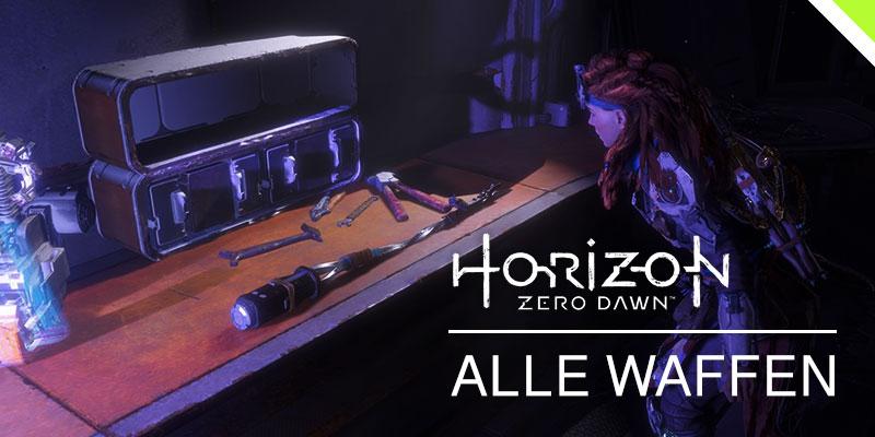 Horizon: Zero Dawn - Headerbild / alle Waffen